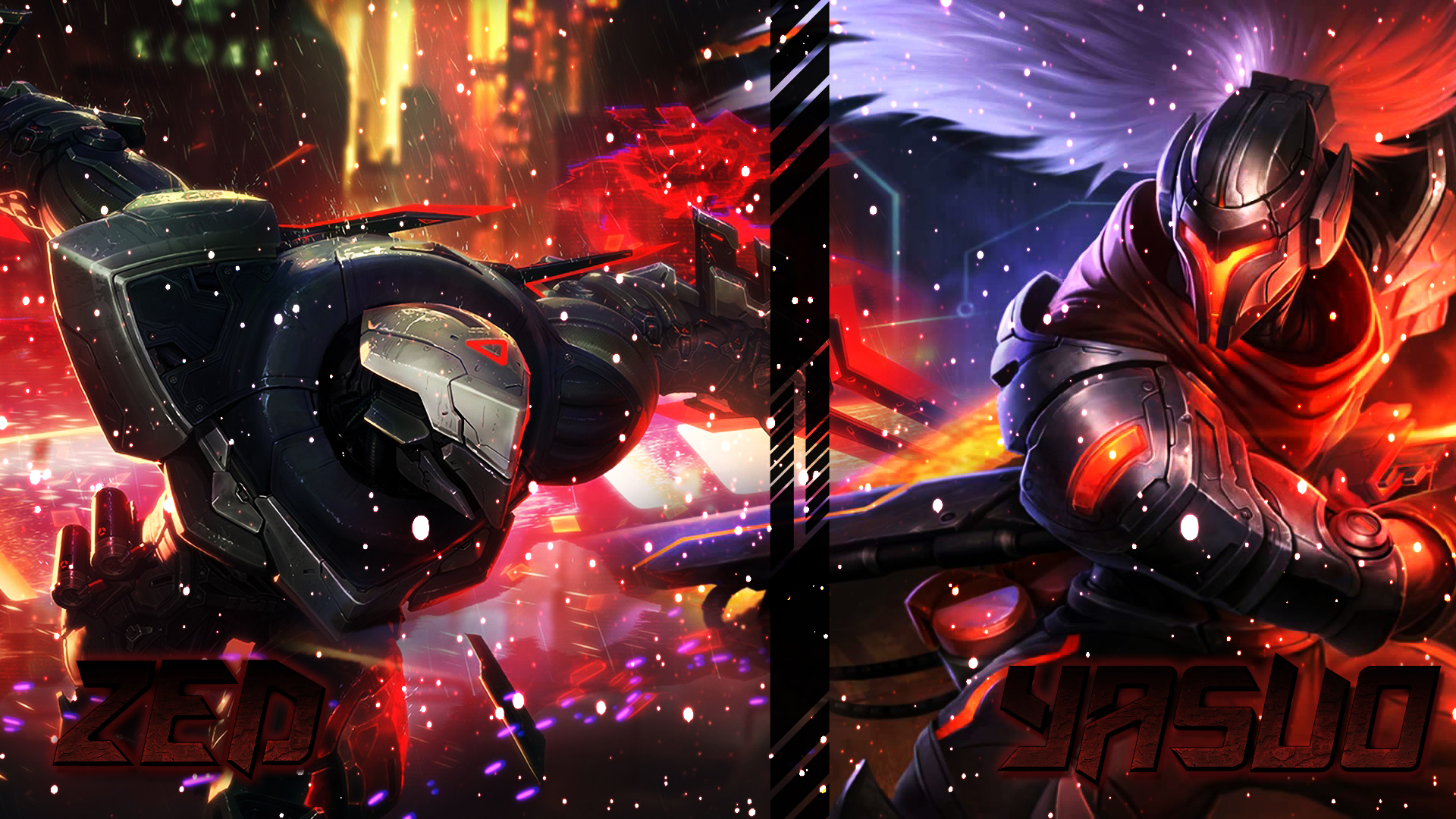 Zed and Yasuo Wallpaper by xsurfspyx on DeviantArt