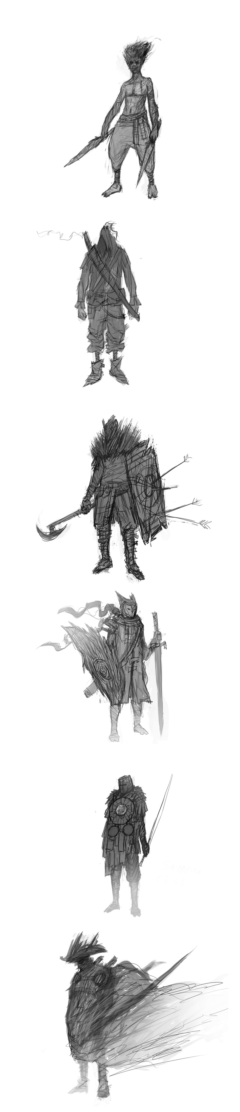 Warrior Sketches vol 1 by DanilLovesFood