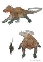 Creature Design: Tonokinian by DanilLovesFood