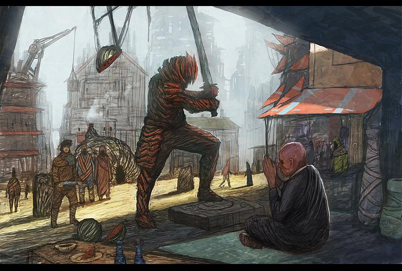 Samurai and Zen Master by DanilLovesFood