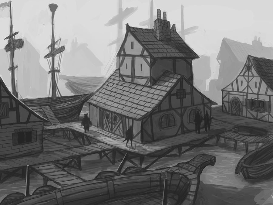 Commission: Ocean Outpost Inn by DanilLovesFood