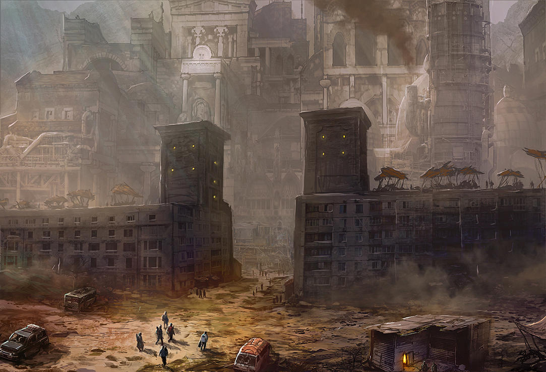 Post-Apocalyptic Citadel by DanilLovesFood