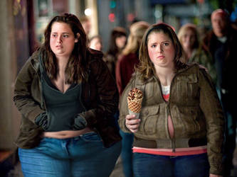 Kristen and Anna, Fat and Out of Breath by JiggleMessiah