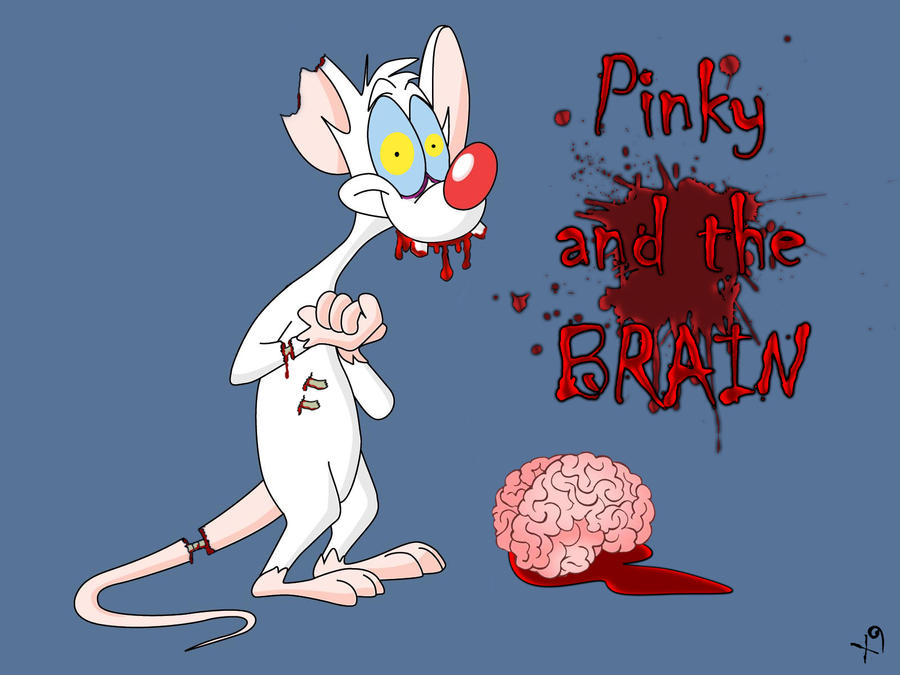 Zombie Pinky and the Brain by X9Photography