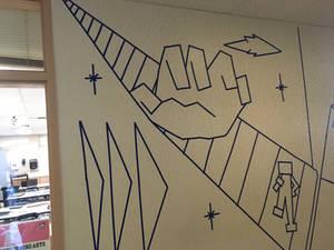Tape mural for school