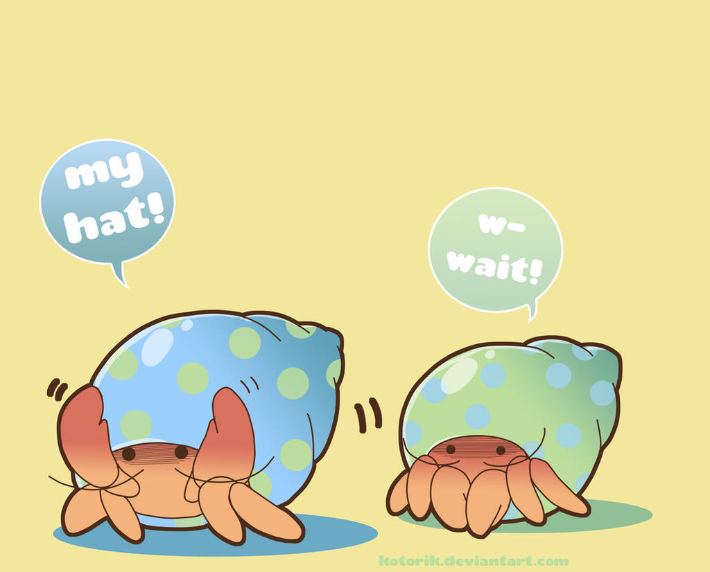 hermit crab misunderstanding by kotorik on deviantart