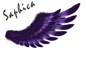Tribal Wings/purple by Saphica8