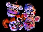 [C4d] Funtime Animatronics Head -remake-
