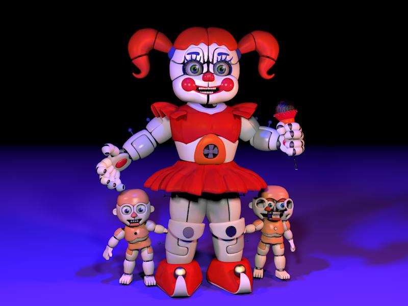 [C4d] Circus Baby by LuckyRabbit31