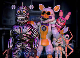 [C4d] Weirdos   Custom Night by The-Smileyy
