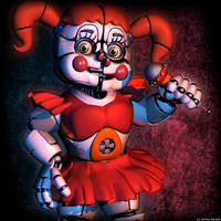 Cinema 4d   Circus Baby V7 by Fazersion by The-Smileyy