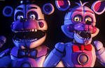 [C4d/FNAF] Come see the Funtime Duo! - Poster