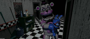 Funtime freddy on the left hall (my version)