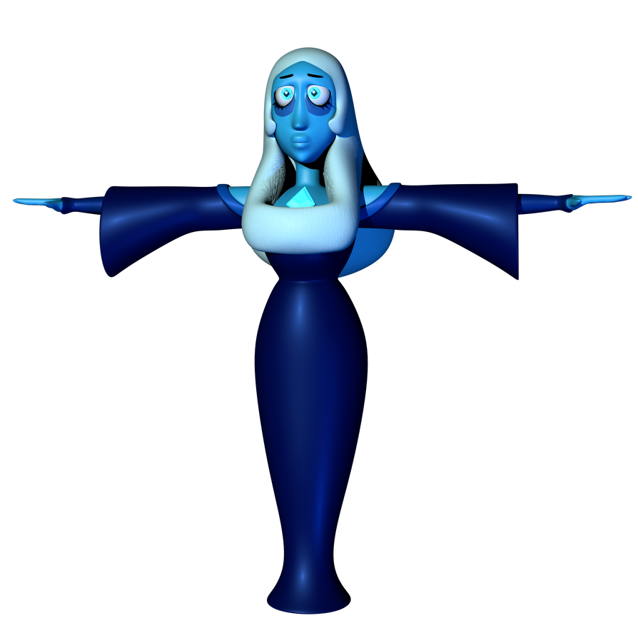 C4d | Blue Diamond but she's doing the T-pose by The-Smileyy