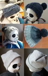 hats for a tiny bone boy