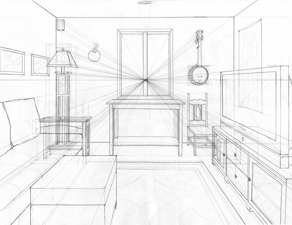Perspective 1 by catchalongtail on deviantart for Living room 2 point perspective