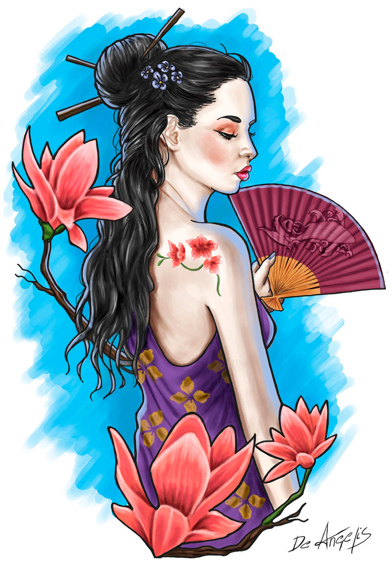 Geisha tattoo by raffa3le on deviantart - Tattoos geishas japonesas ...