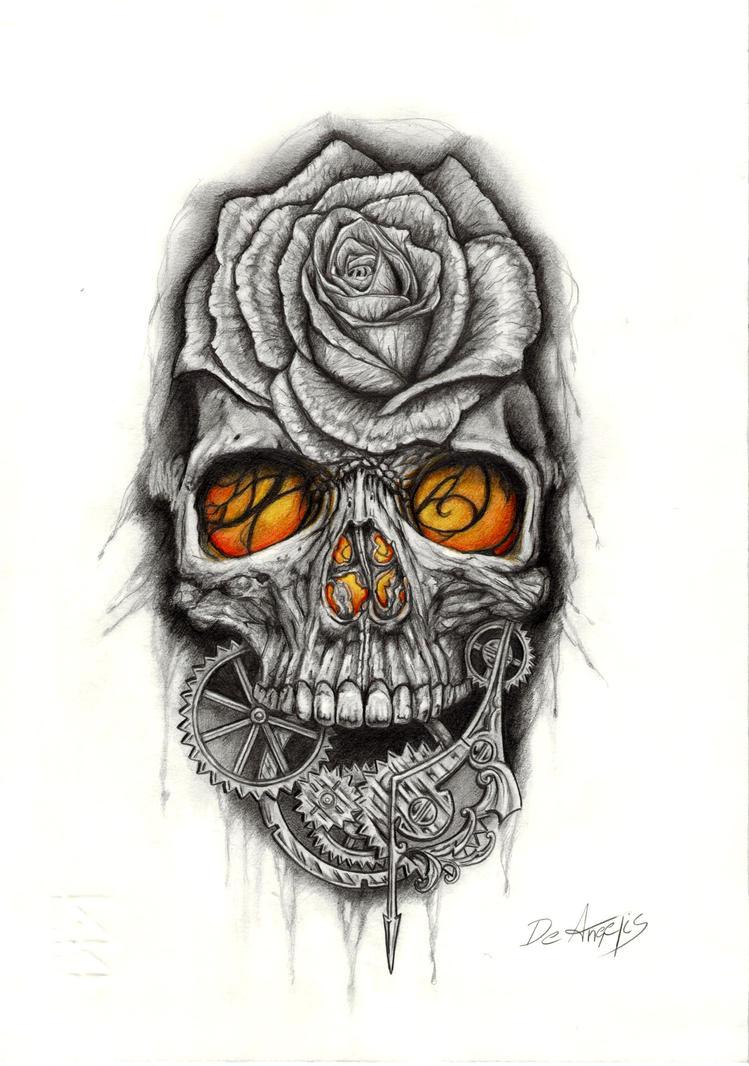 skull tattoo by raffa3le on DeviantArt