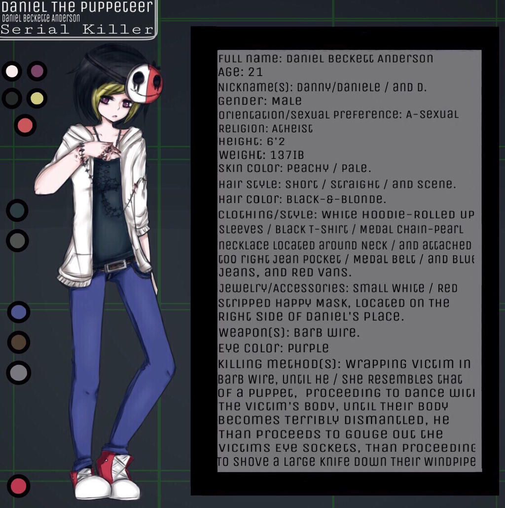 Daniel T.P=The Puppeteer (CP OC Bio Template.) II by ProxyBecca1 on ...