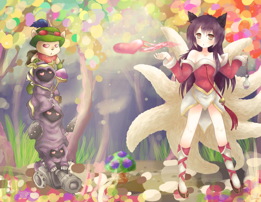 LoL Digi-Art 2013 - Ahri by Cherrycake4