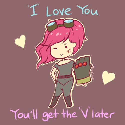 Vi - LoL Valentines Card by Cherrycake4 on DeviantArt