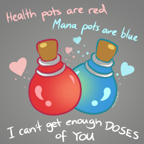 Potions - LoL Valentines Card by Cherrycake4 on DeviantArt