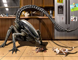 Alien vs. Pussycat by Davesrightmind