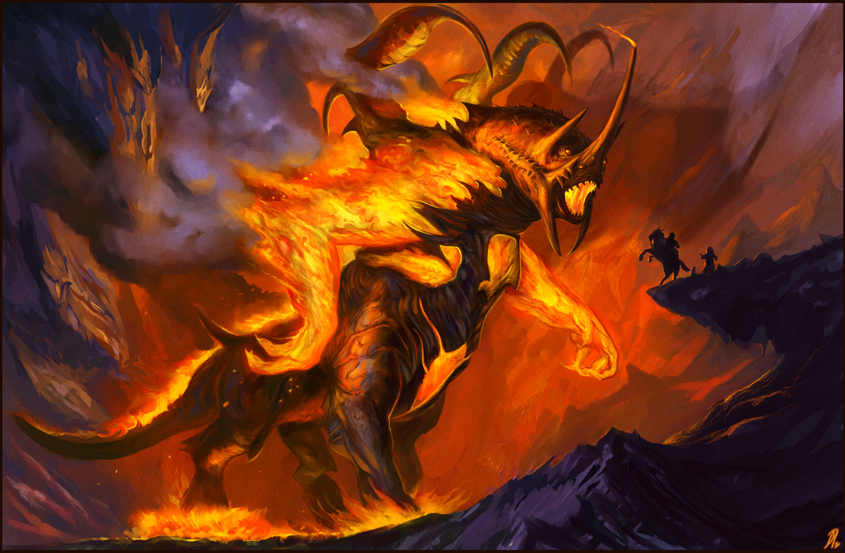 Demon In The Sorcerer S Ring Art Painting