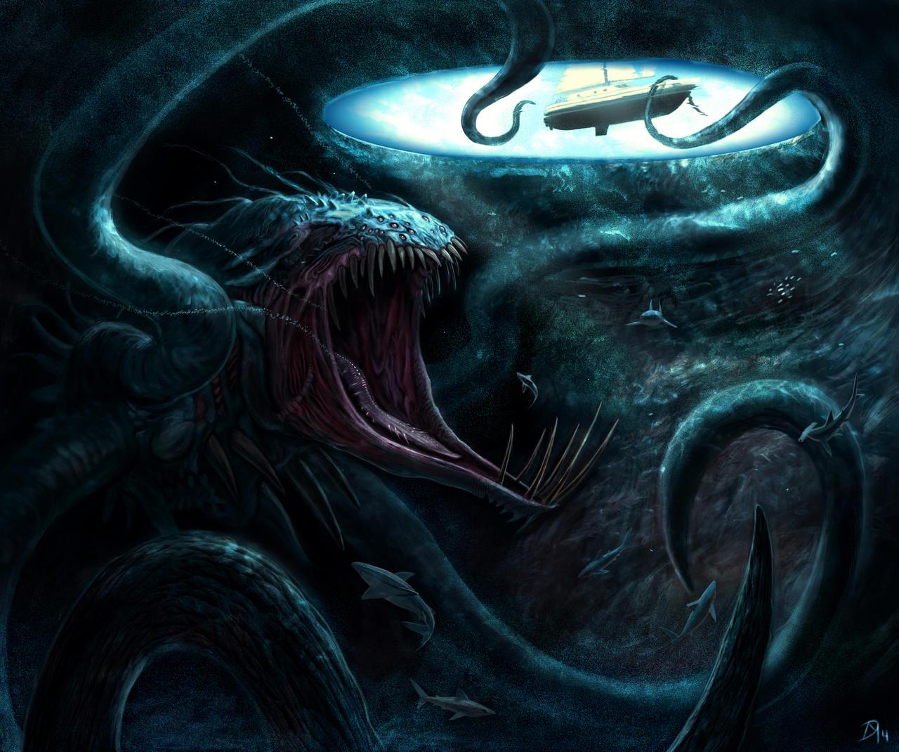 Blue-Hole-Beast by Davesrightmind