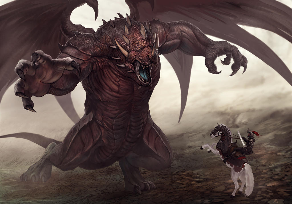 Bear Dragon by Davesrightmind