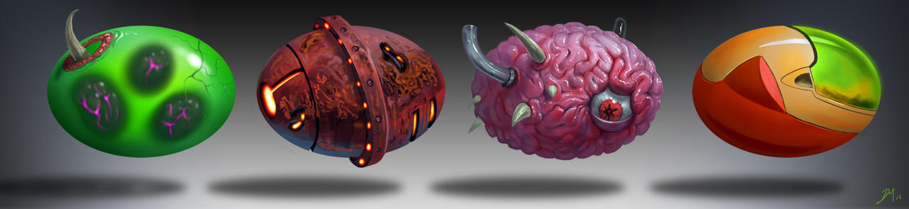Metroid-Materials-2 by Davesrightmind