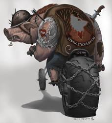 Big-Pig-Guy by Davesrightmind