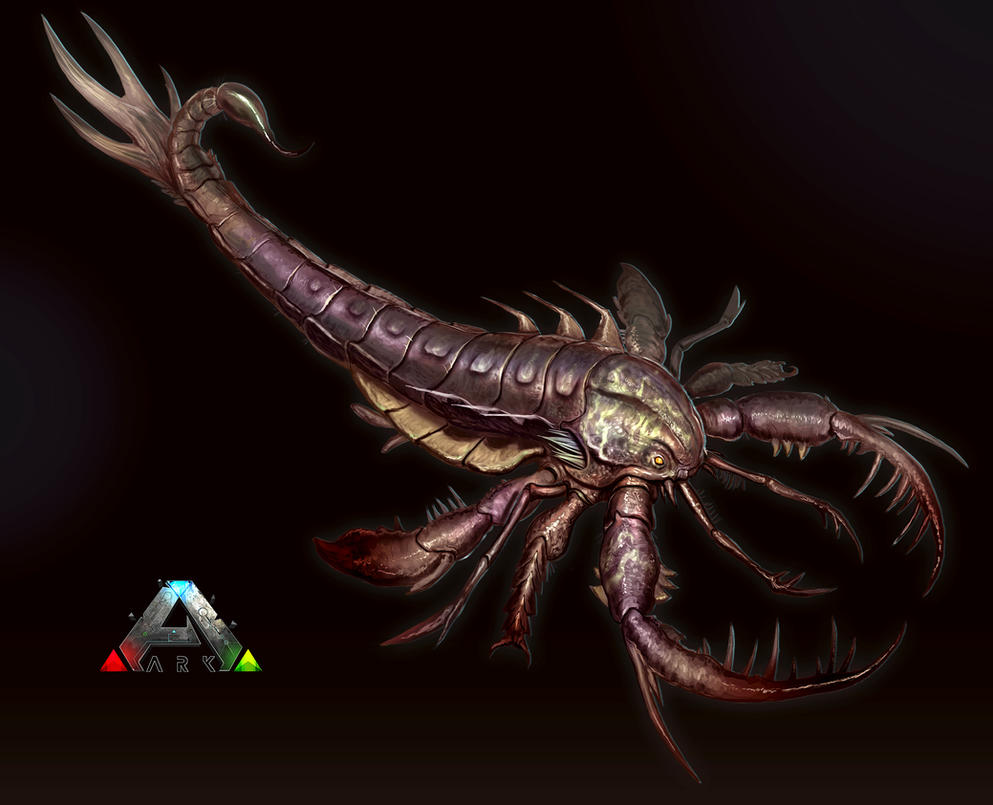 Ark sea scorpion final by davesrightmind on deviantart for Angler fish ark