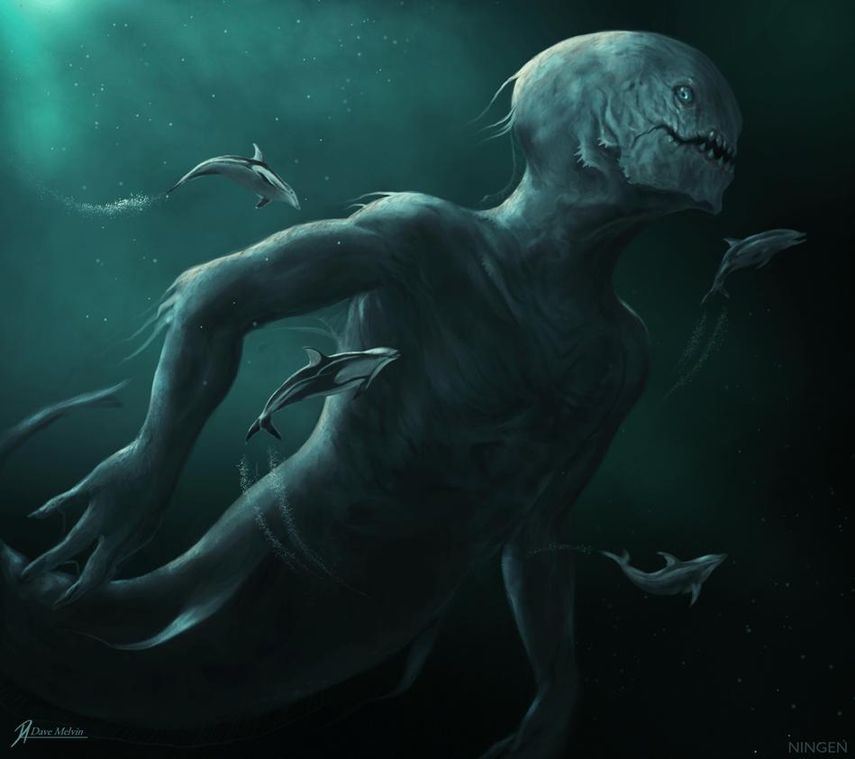 Los Ningen, criaturas humanoides del Ártico