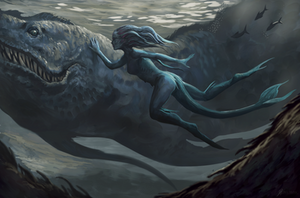 Mermaid-with-Pet by Davesrightmind