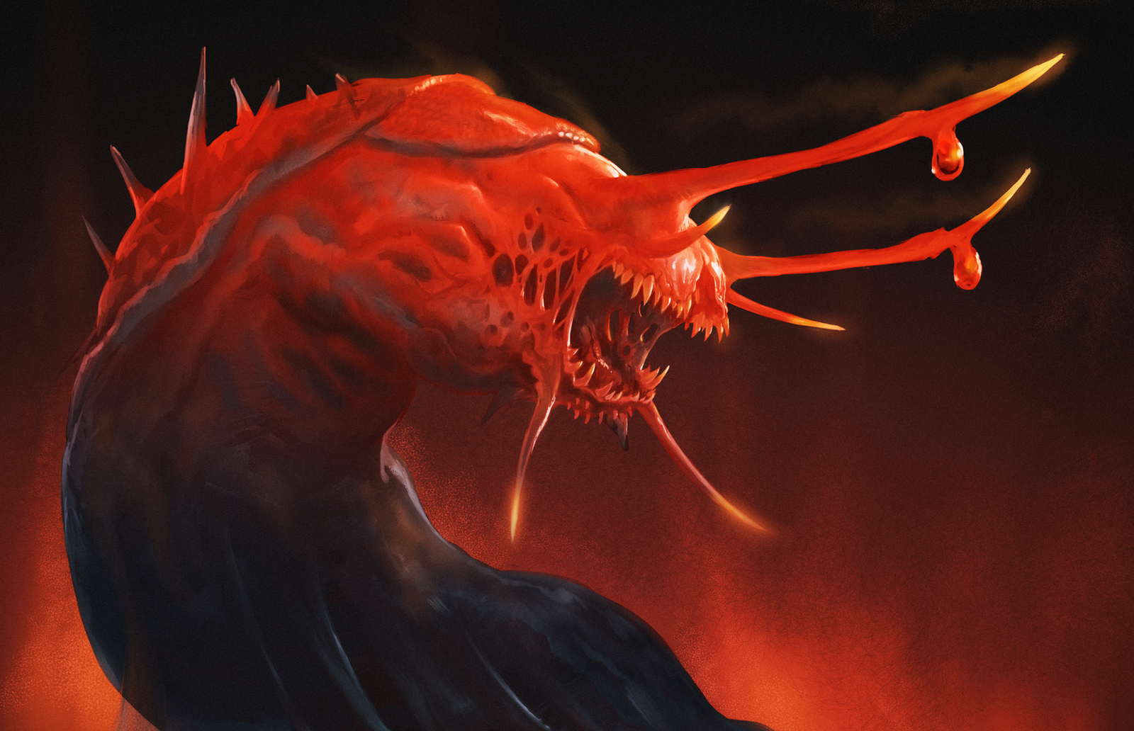 Demonic-Slug-Sketch by Davesrightmind