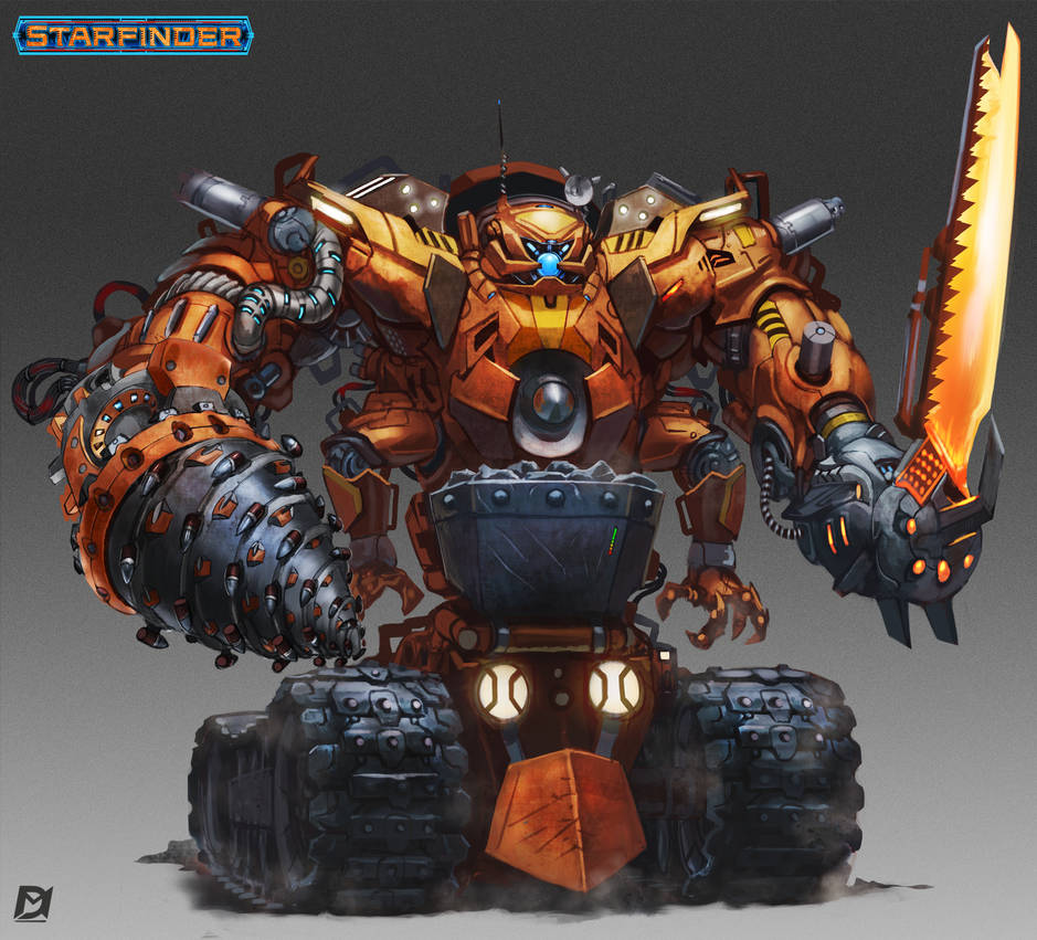 Starfinder Mining-robot by Davesrightmind