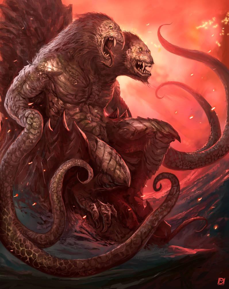 Demogorgon-on-the-Throne by Davesrightmind