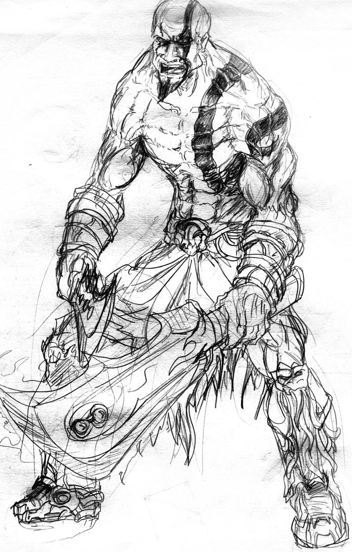God Of War Kratos By Akshaynba On Deviantart Coloring Pages