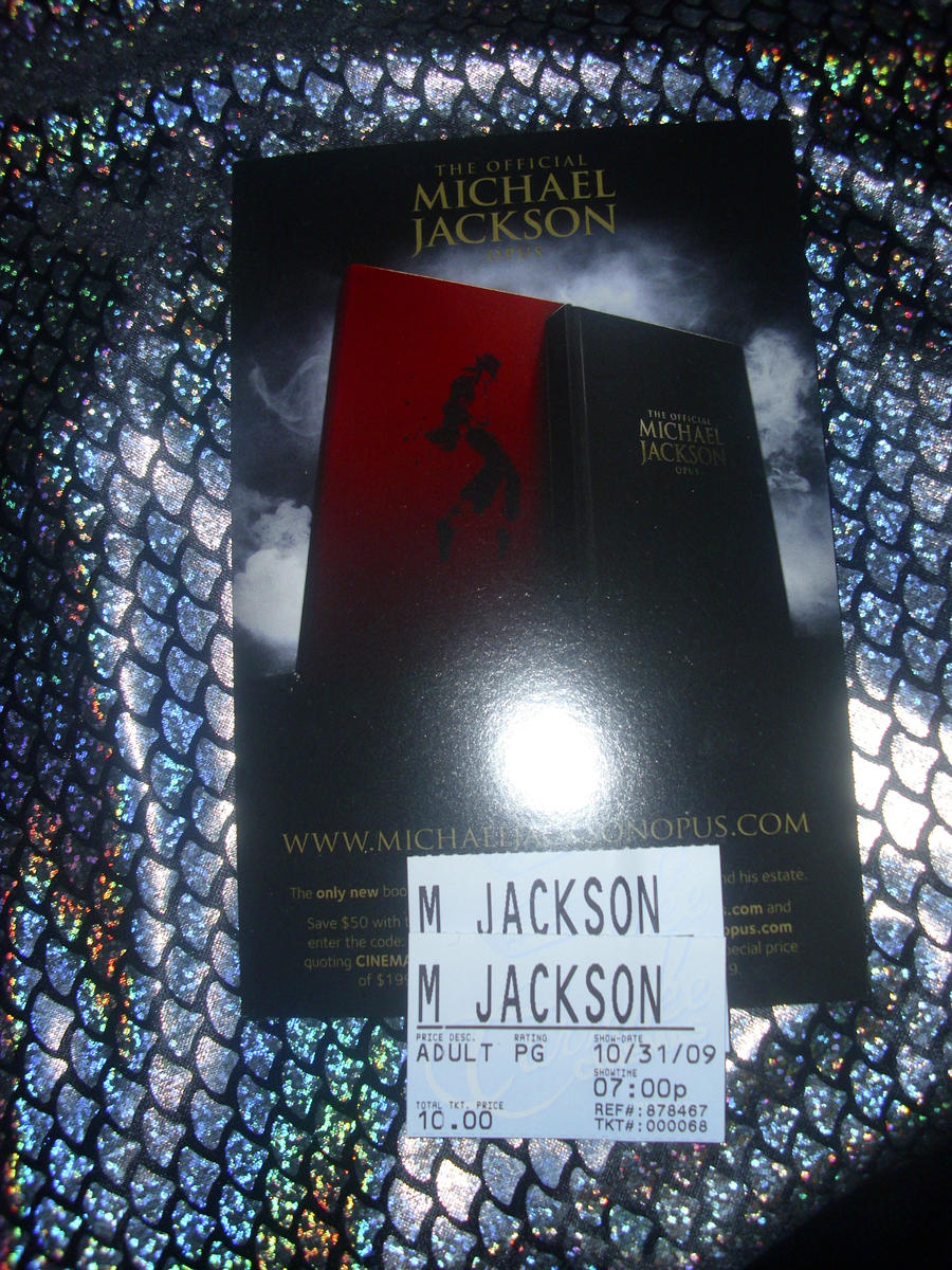 my michael jackson tickets by filmcity
