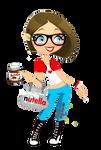 Nutella Girl para mis 60 Watchers x3