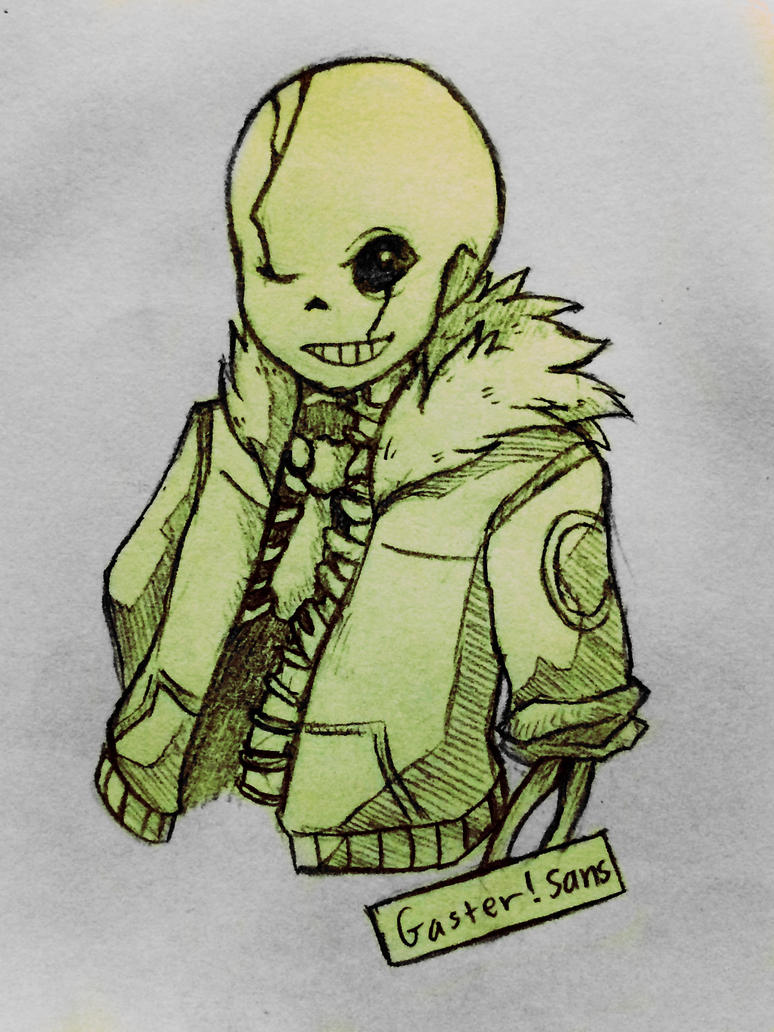 how to draw gaster sans
