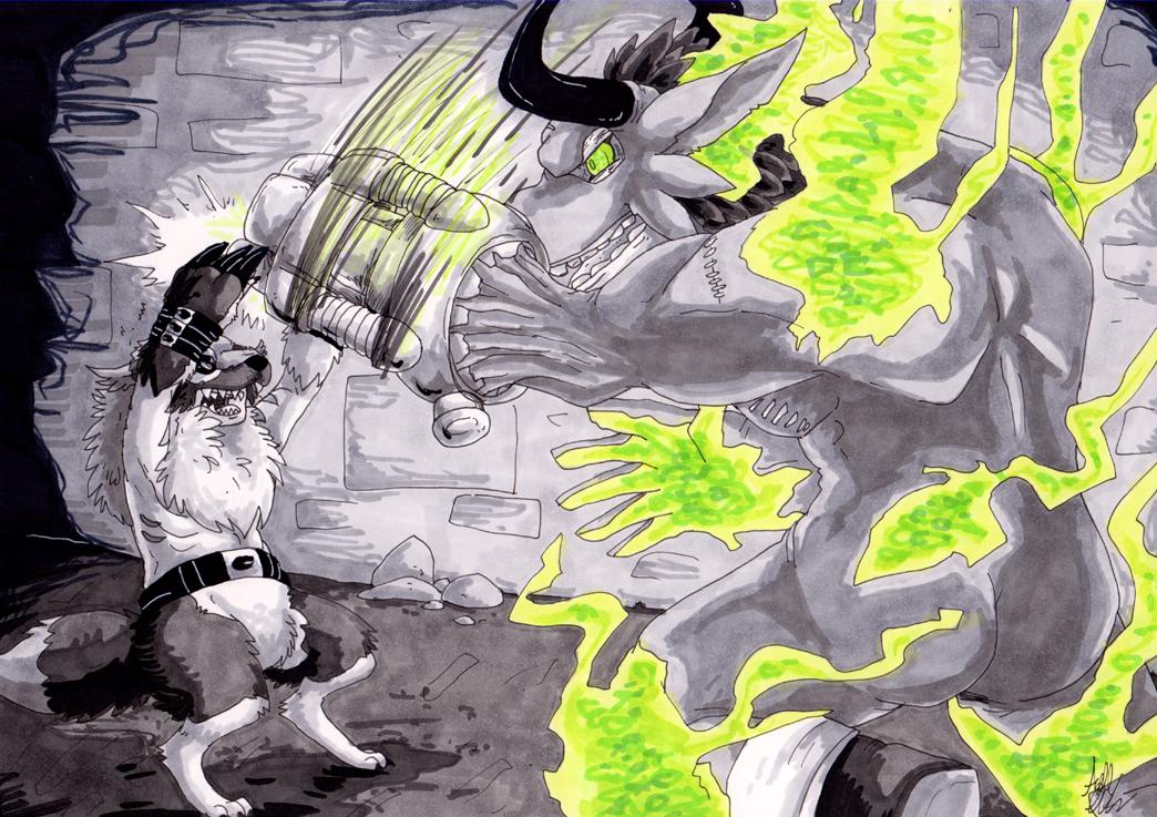 Digimon Arcana Event 4 - VS Minotaurmon by Gomis