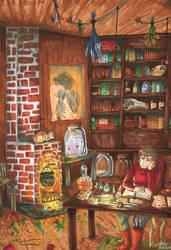 Intelligence / Alchemist's Study by Gomis