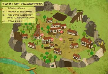 Alderamin Town Map