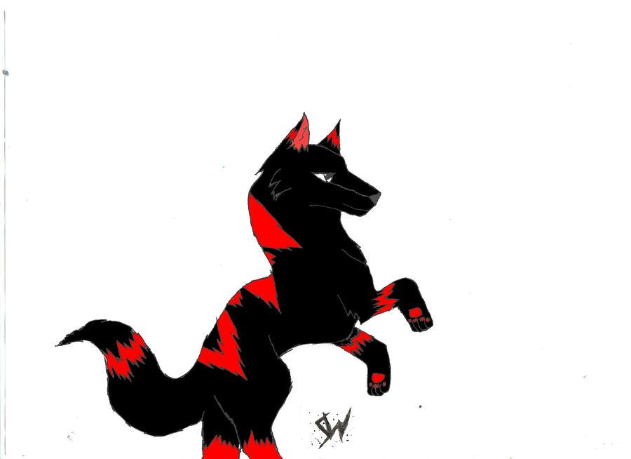 Shadow Wolf Jumping By ShadowEMOWolf