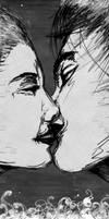 The Kiss -B. + W. Detail- by Rabotnik11811