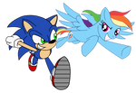 Sonic and Dashie Vectorized