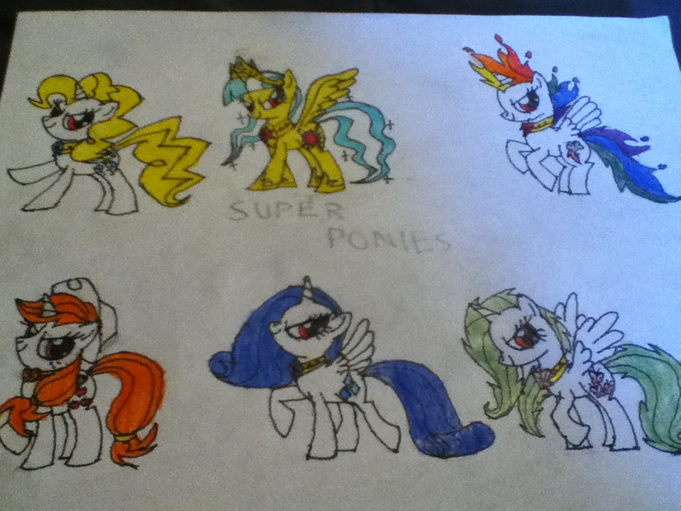 Super Ponies (My version) by cooleevee759