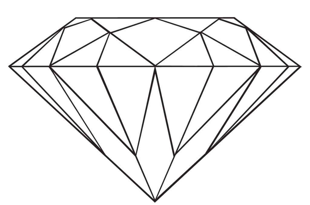 Line Art Diamond : Transparent diamond by danakatherinescully on deviantart